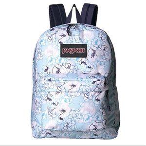 JanSport Superbreak Backpack - Blue Sketch Floral
